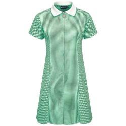 Summer Dress – Gingham design, Green/White