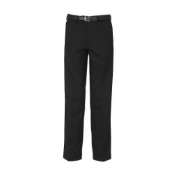 Falmouth Black Trouser (Flat Front)