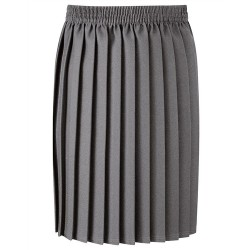 Skirt - Grey, Pleated Style