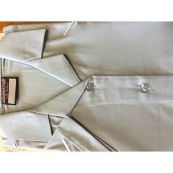 Girls short sleeve revere blouse