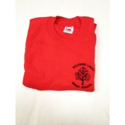 Boys Red EMBROIDERED LOGO Sweatshirt