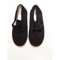 Velcro Black Plimsoles