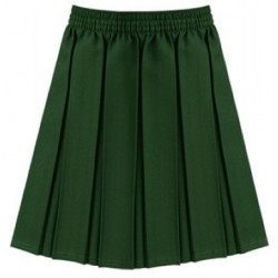 Skirt - Green, Pleated Style