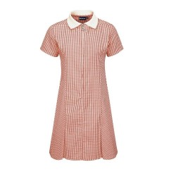 Summer Dress - Gingham design, Red/White