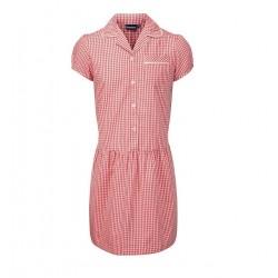 Summer Dress - Gingham design, Red/White