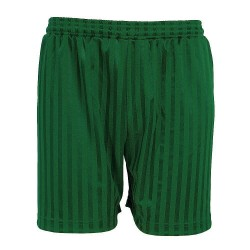 PE Shorts - Shadow Stripe, Bottle Green