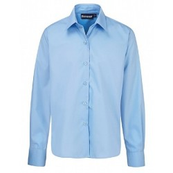 Girls School Shirts - Pale Blue - Long Sleeve