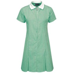 Summer Dress – Gingham design, Green/White