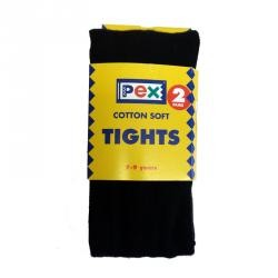Tights - Cotton, Black