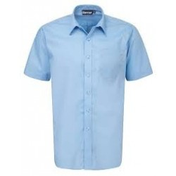 Boys School Shirts - Pale Blue - Short Sleeve