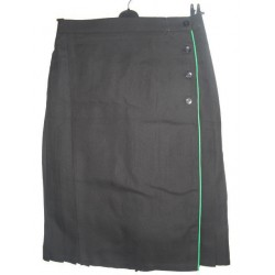 Black Mock Kilt with Emerald Piping