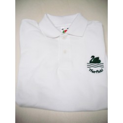 Therfield School EMBROIDERED White Polo