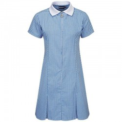Summer Dress - Gingham design, Royal Blue/White