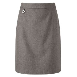 Skirt - Grey, Straight Style