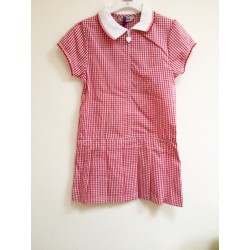 Summer Dress – Gingham design, Pink/White