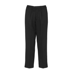 Putney Black Trouser (Pleated Front)